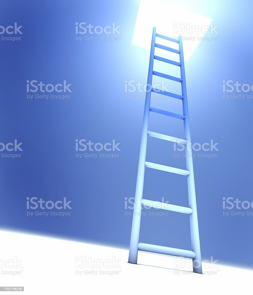Ladder Into Light royalty-free stock photo