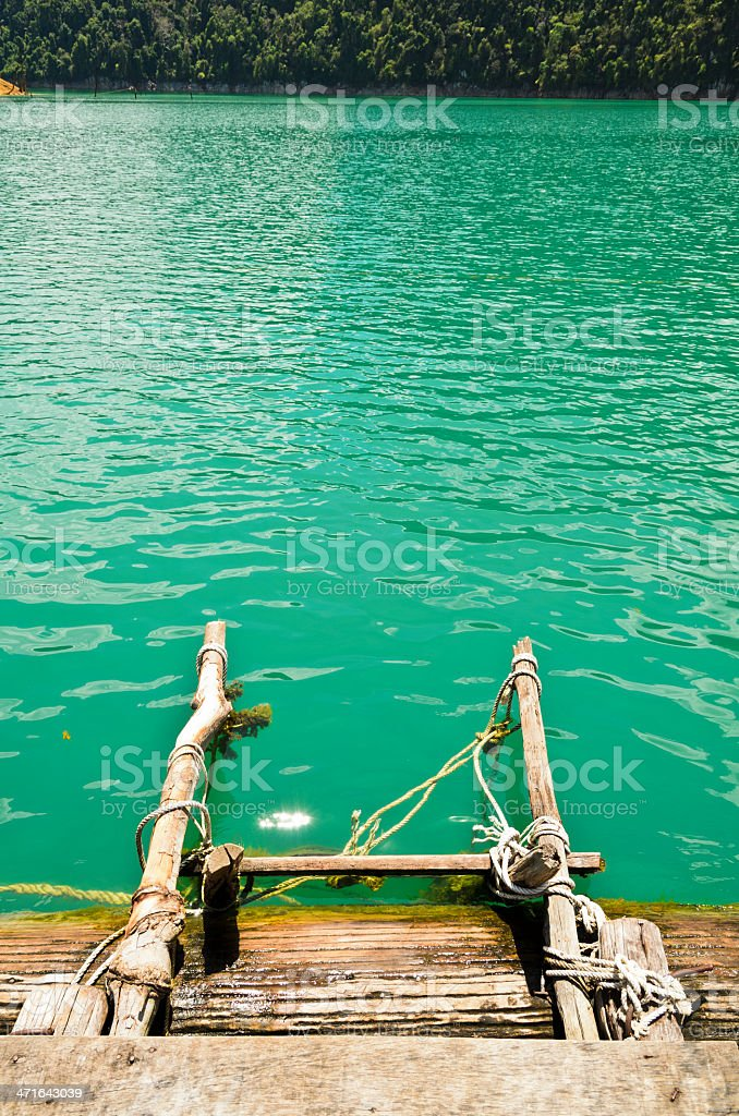 Ladder into the water royalty-free stock photo