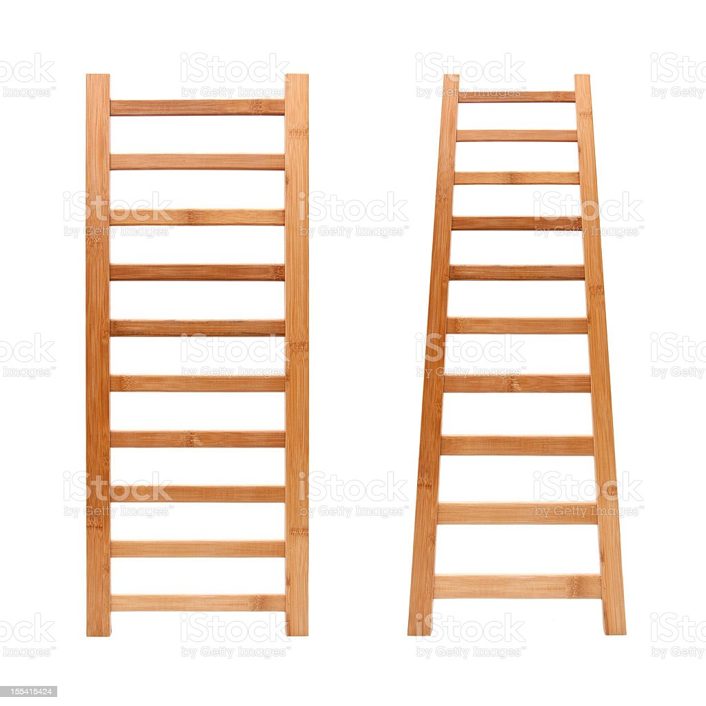 Ladder (Clipping path!) isolated on white background stock photo