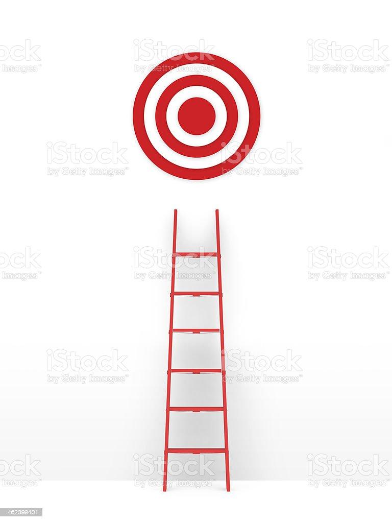 Ladder Leading Target stock photo