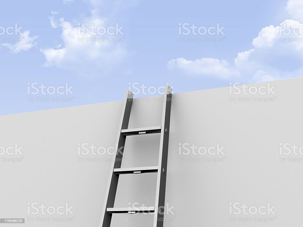 Ladder Leaned Wall royalty-free stock photo