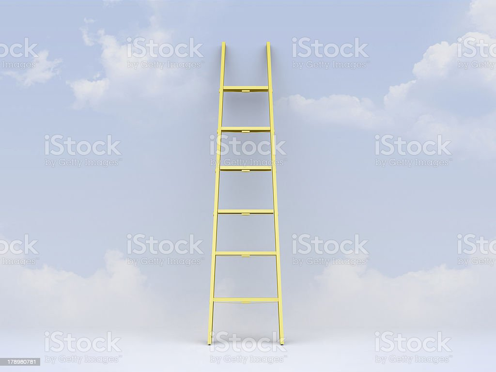 Ladder Leaned Weather royalty-free stock photo