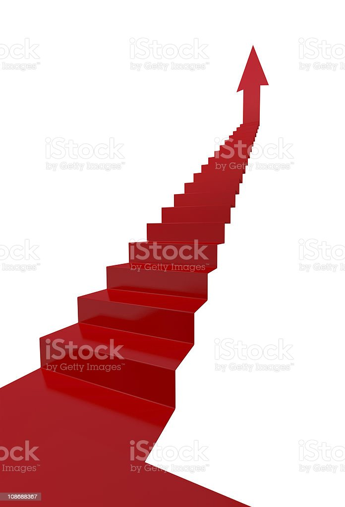 Ladder of Success royalty-free stock vector art