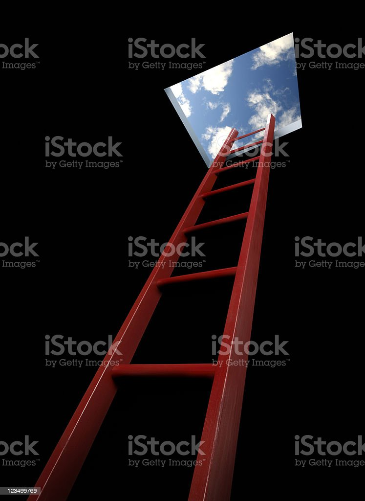 Ladder of Success royalty-free stock photo