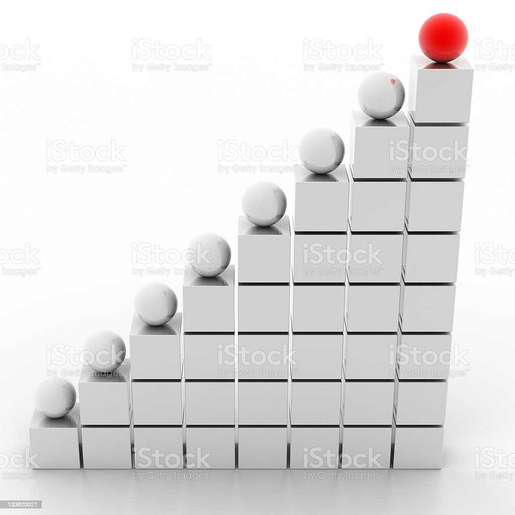 Ladder of Success (on white) royalty-free stock photo