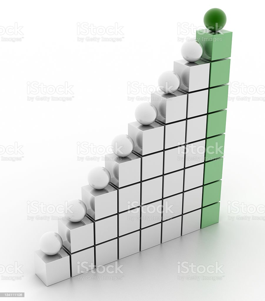 Ladder of Success (green color) royalty-free stock photo
