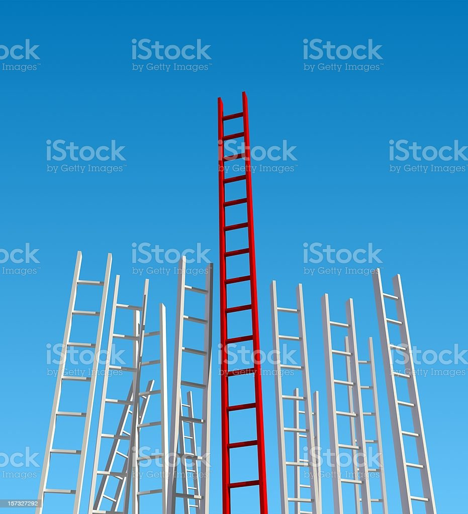 Ladder of Success (Amazing Person) royalty-free stock photo