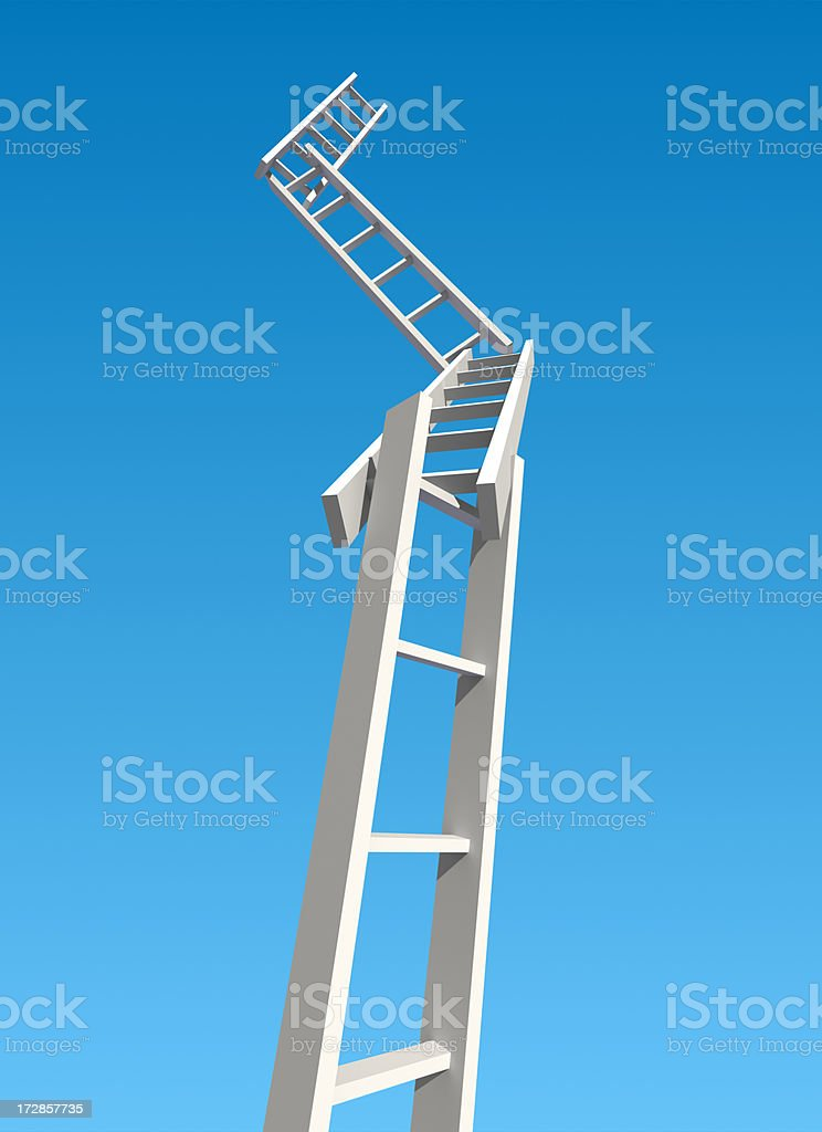 Ladder of Success (Hard way to money) royalty-free stock photo