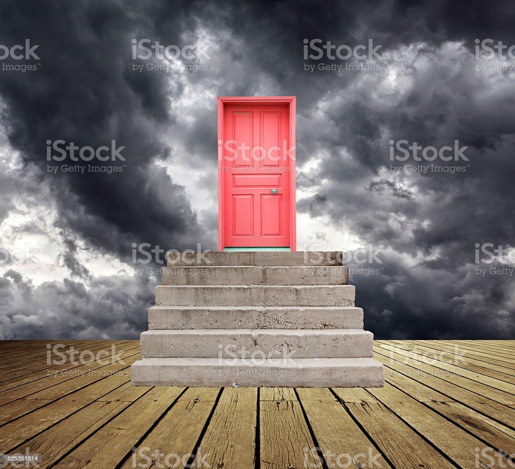 Ladder Of Success stock photo