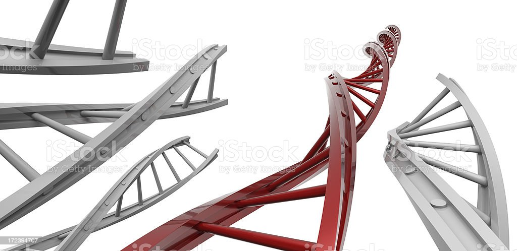 DNA Ladder royalty-free stock photo