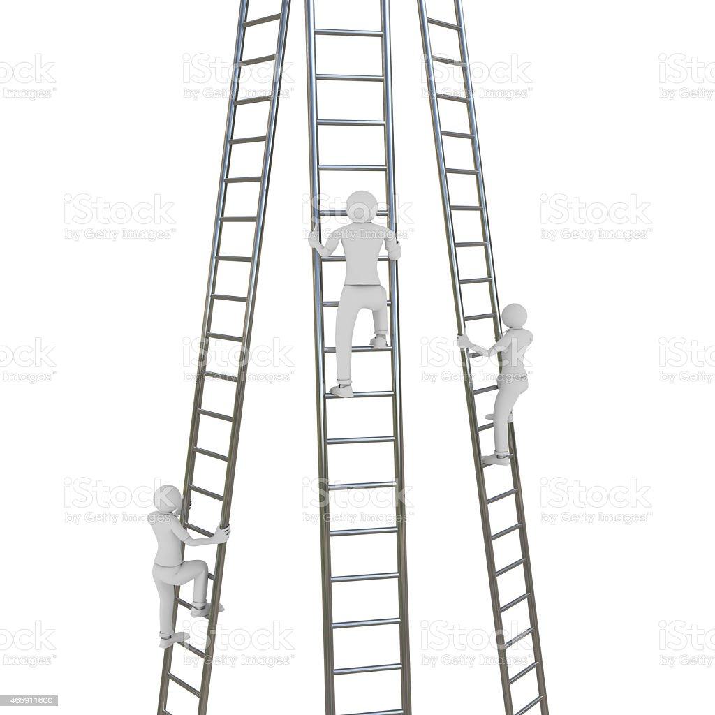 Ladder Rivalry stock photo