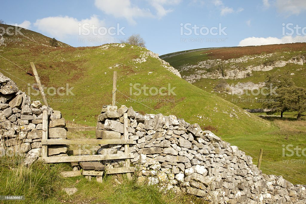 Ladder Stile in the Yorkshire Dales stock photo