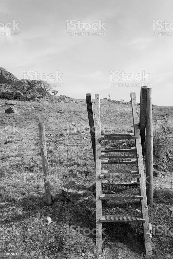 ladder stile stock photo