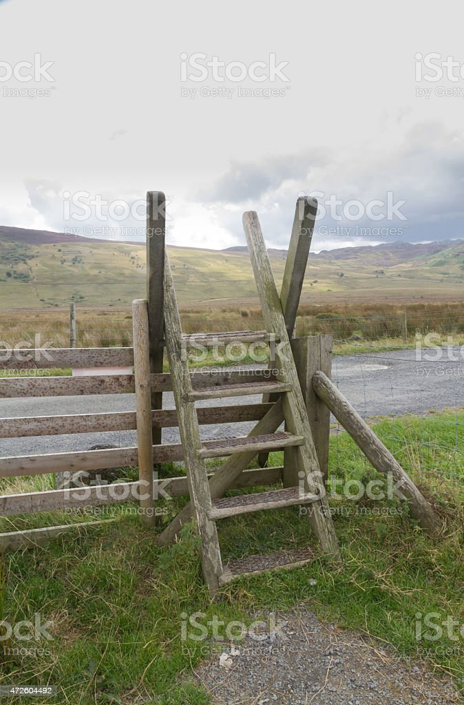 Ladder Stile style, North Wales stock photo