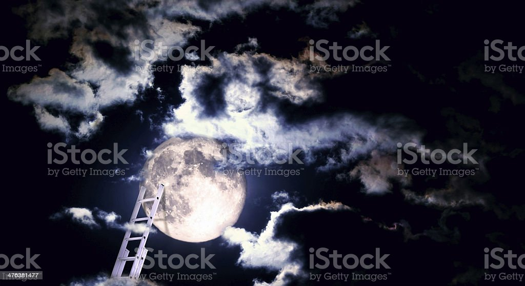 ladder to the moon... royalty-free stock photo