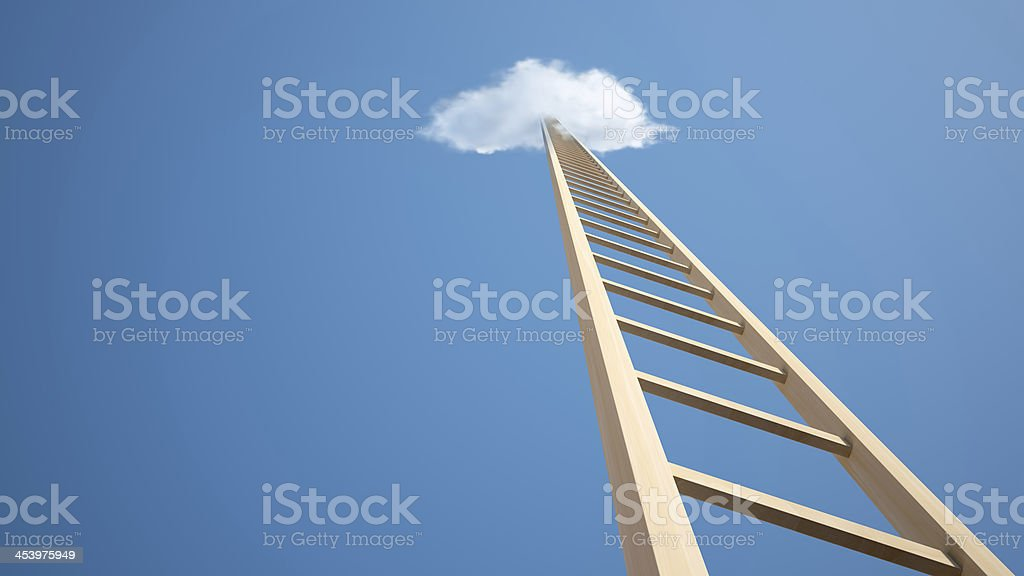 Ladder Way to Heaven stock photo