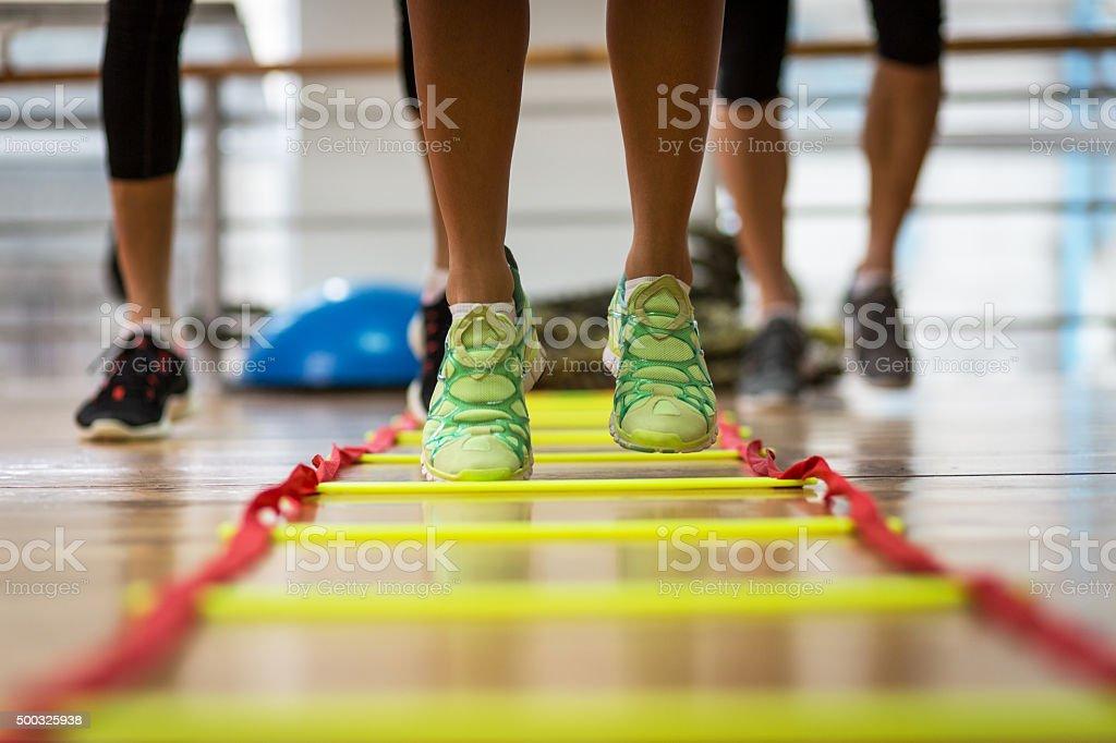 Ladder workout stock photo