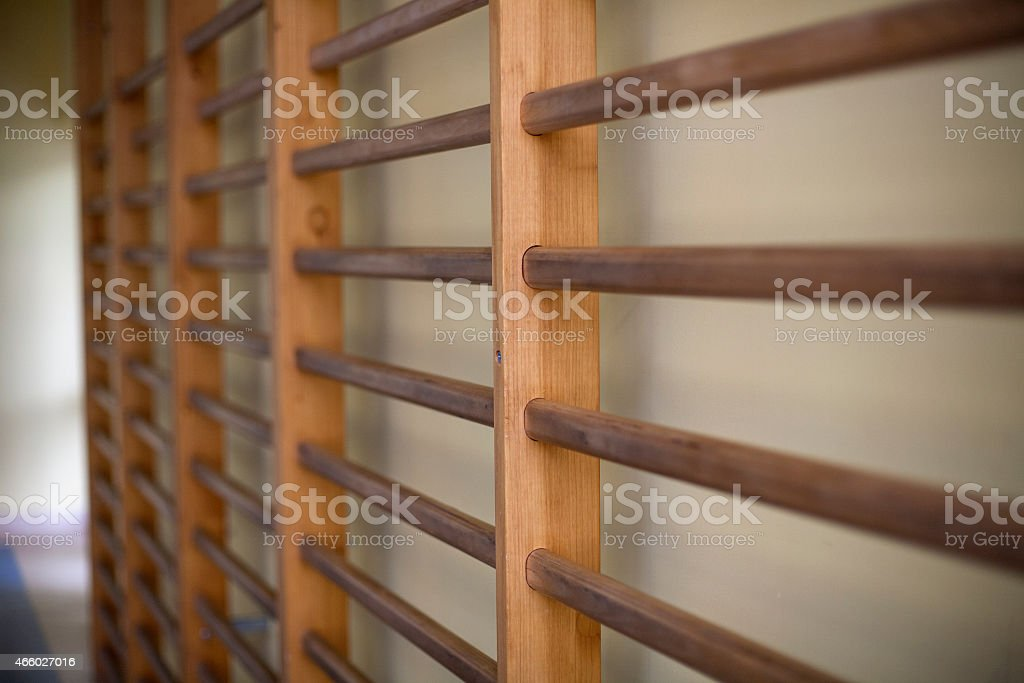 Ladders for exercise, school stock photo