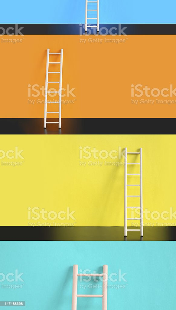 Ladders Of Success stock photo