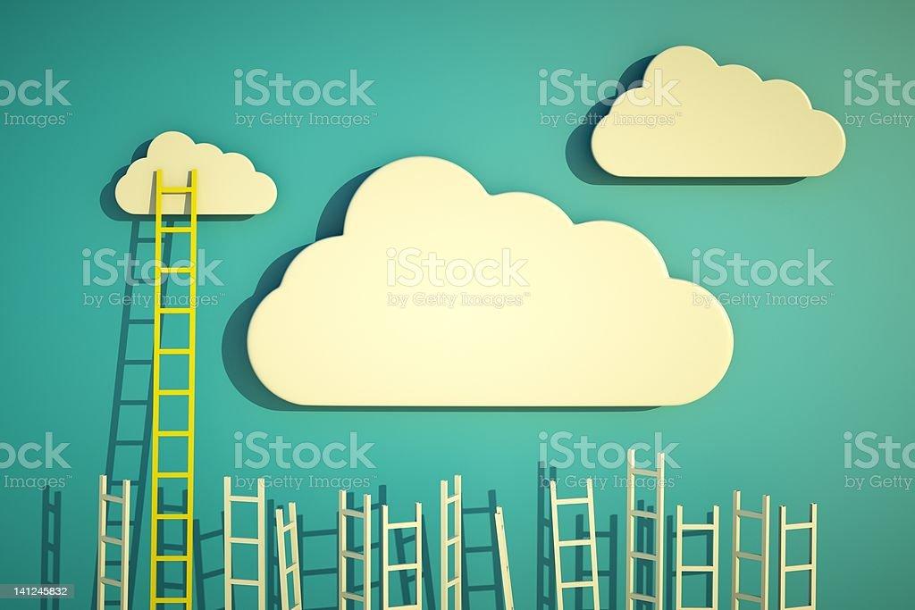 ladders stock photo