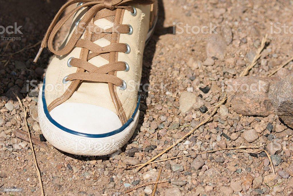 ladies baseball shoe stock photo