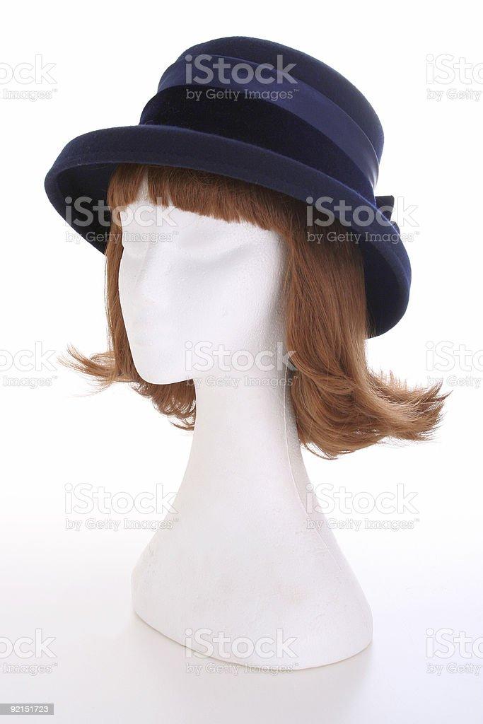 Ladies blue hat royalty-free stock photo