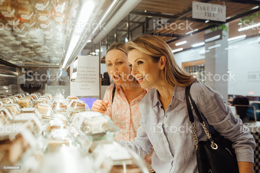 Ladies Buying Lunch stock photo