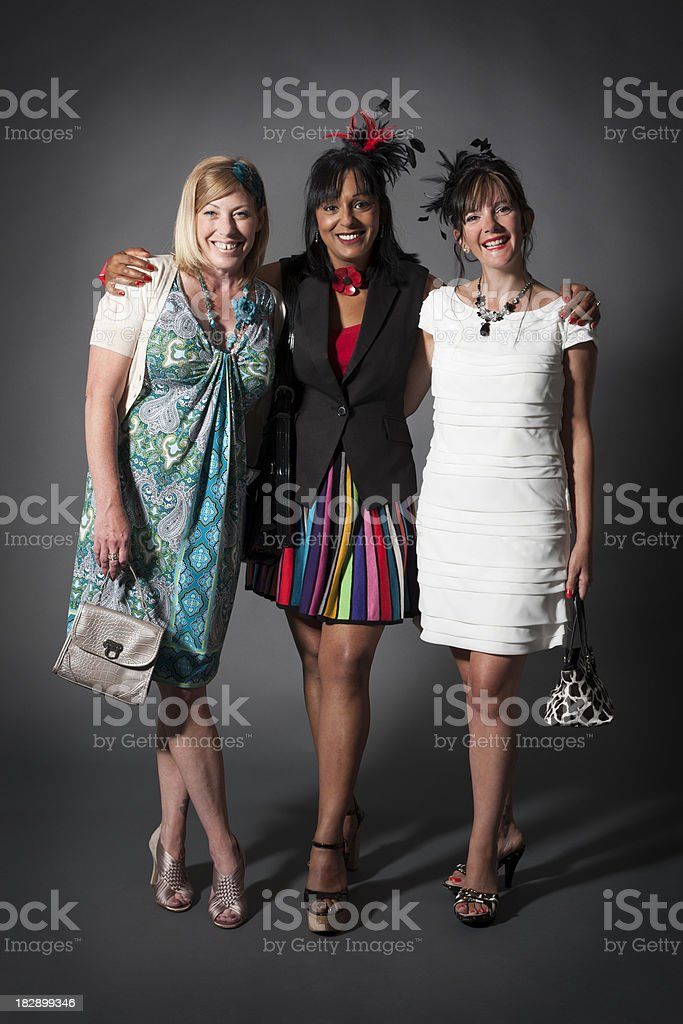 ladies day: friends together stock photo