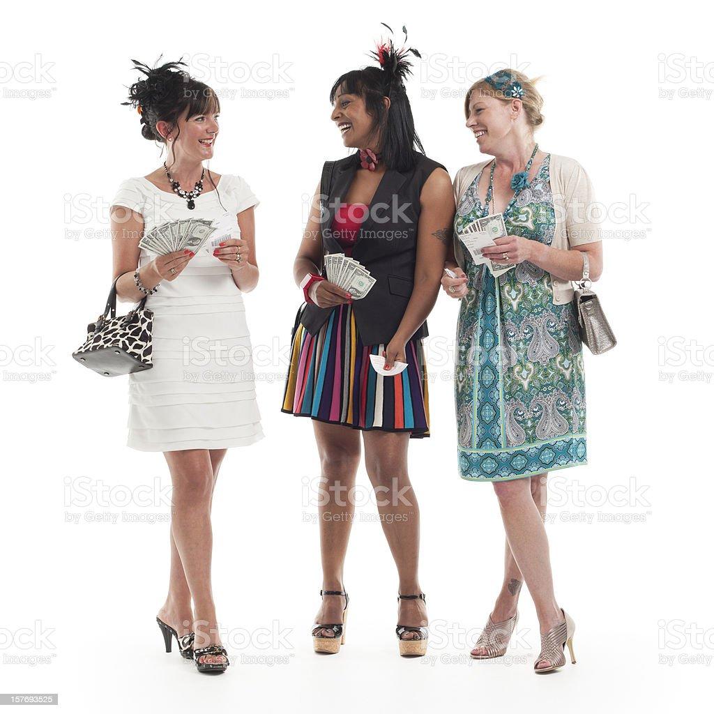 ladies day: money to burn stock photo