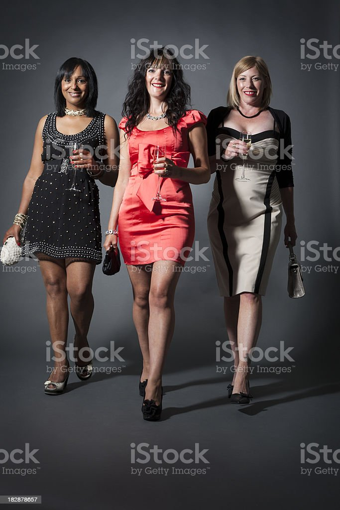 ladies day: stepping out royalty-free stock photo