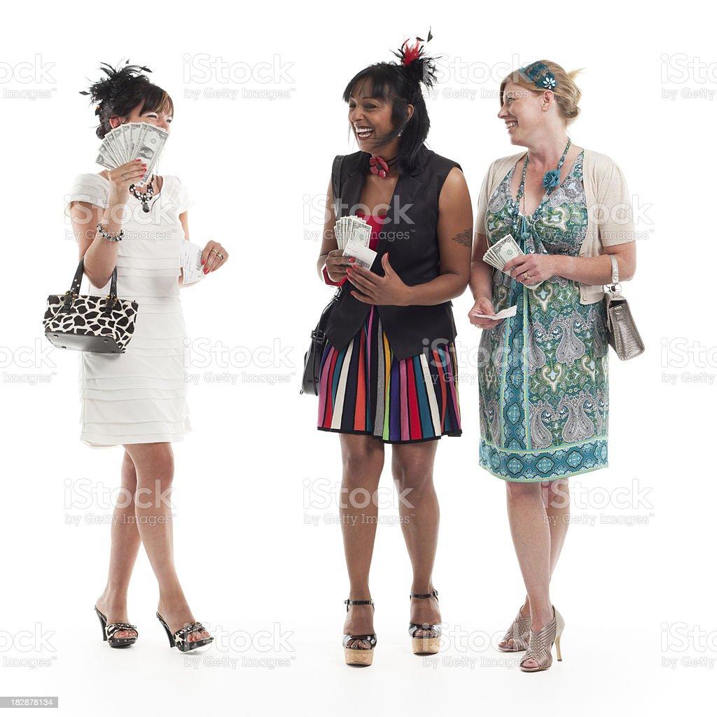 ladies day: winning friends stock photo