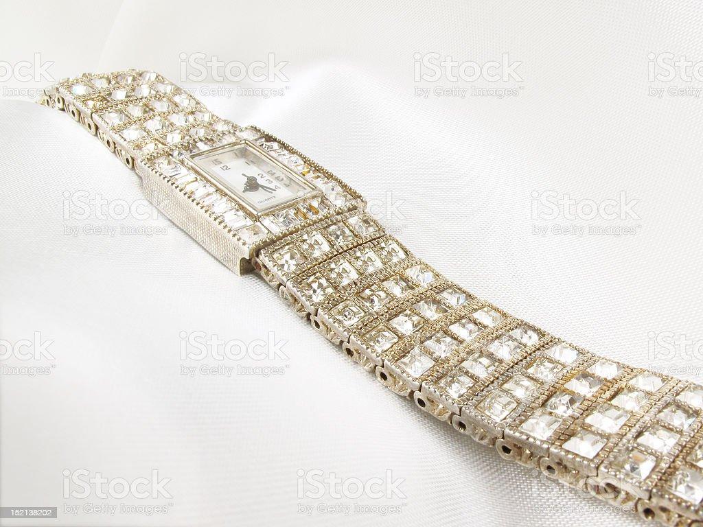 Ladies Diamon Watch royalty-free stock photo