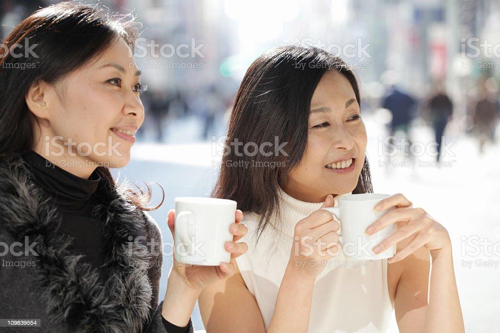 Ladies Enjoying Coffee Break royalty-free stock photo
