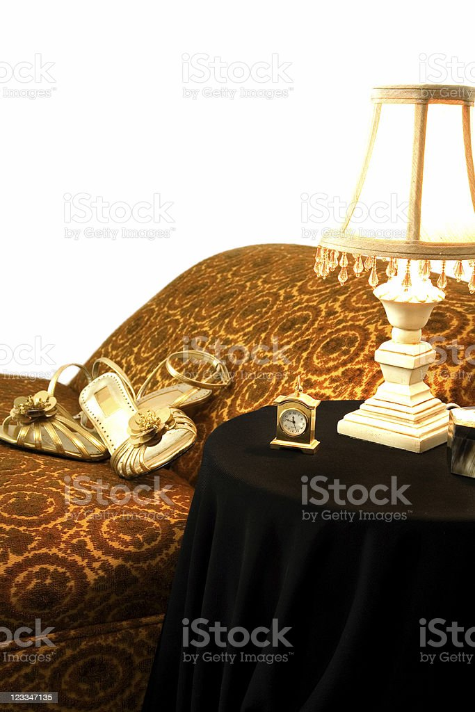 Ladies fainting couch and table royalty-free stock photo