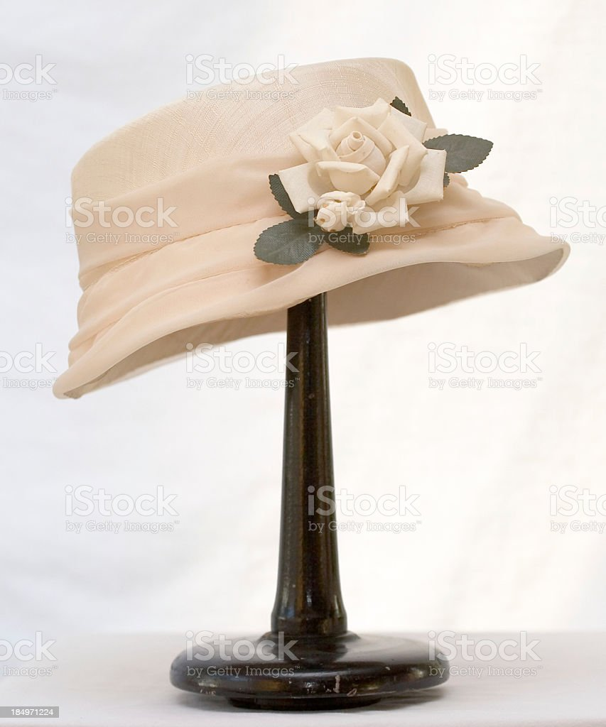ladies flower hat stock photo