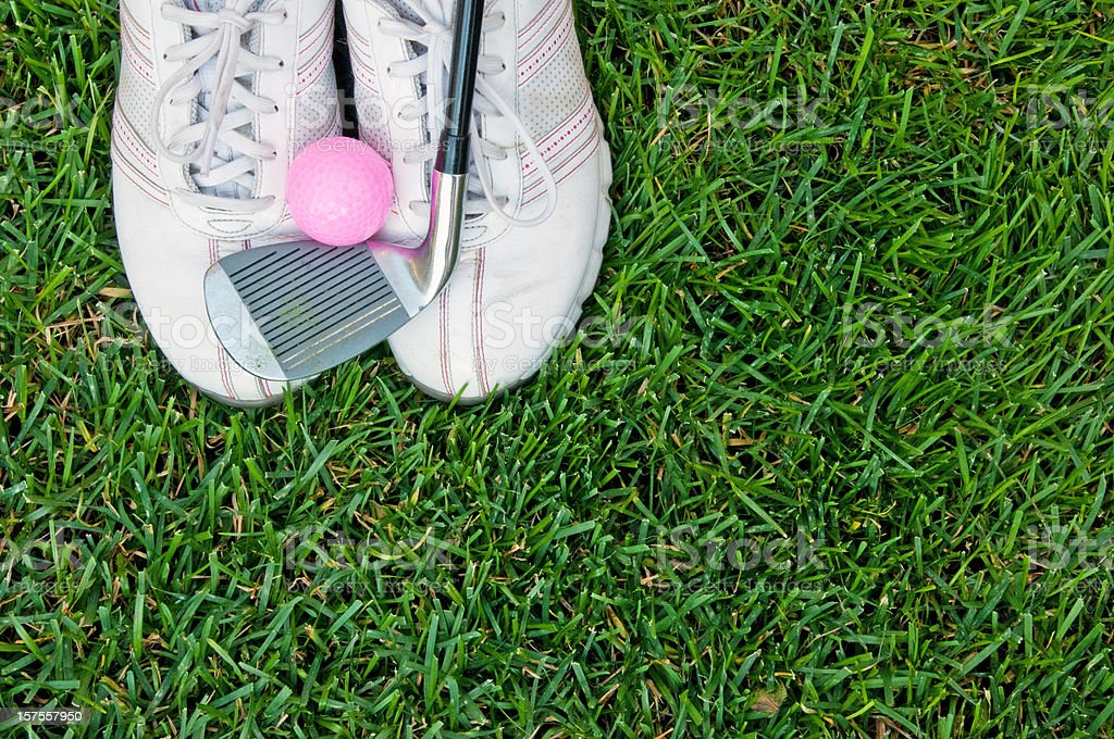 Ladies golf equipment stock photo