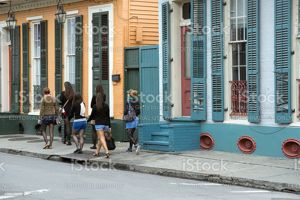 Ladies in the French Quarter royalty-free stock photo