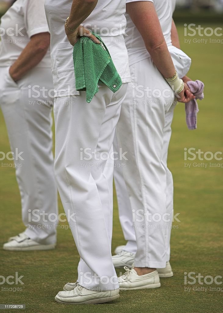 Ladies Lawn Bowls Team stock photo