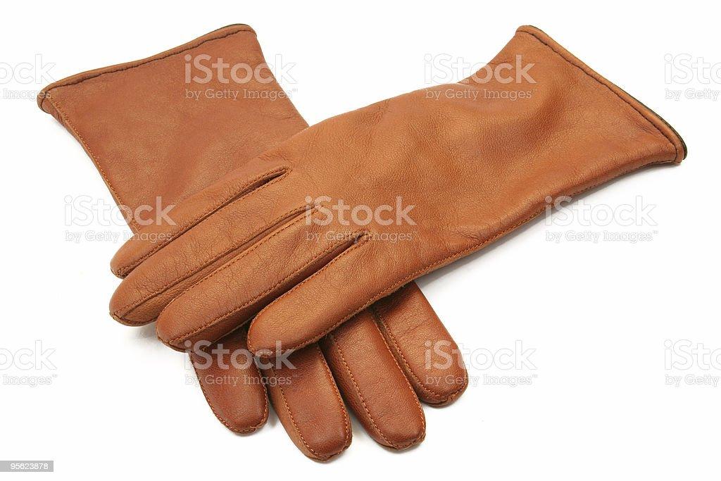 ladies leather gloves stock photo