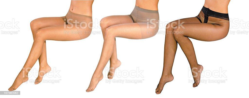 ladies' legs stock photo