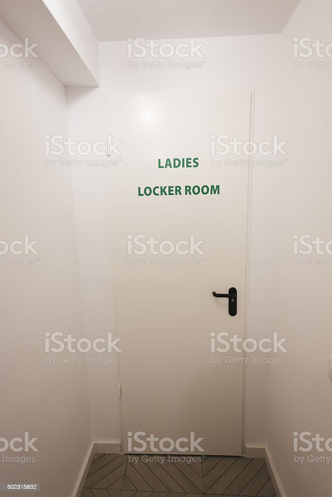 Ladies locker room stock photo