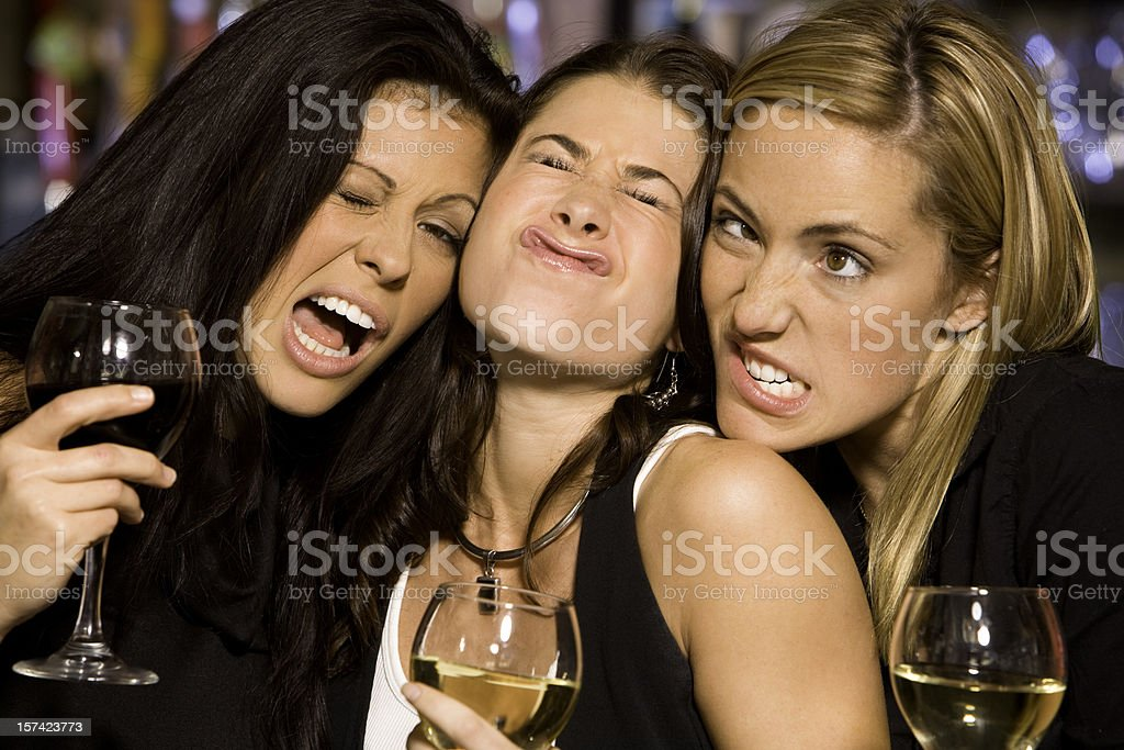 Ladies Making Faces royalty-free stock photo