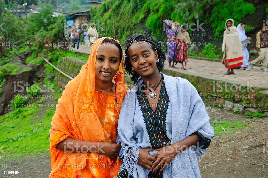 Ladies of Ethiopia stock photo