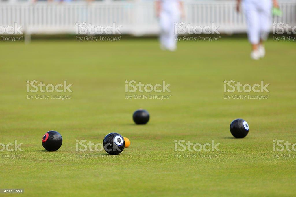Ladies playing lawn bowls royalty-free stock photo