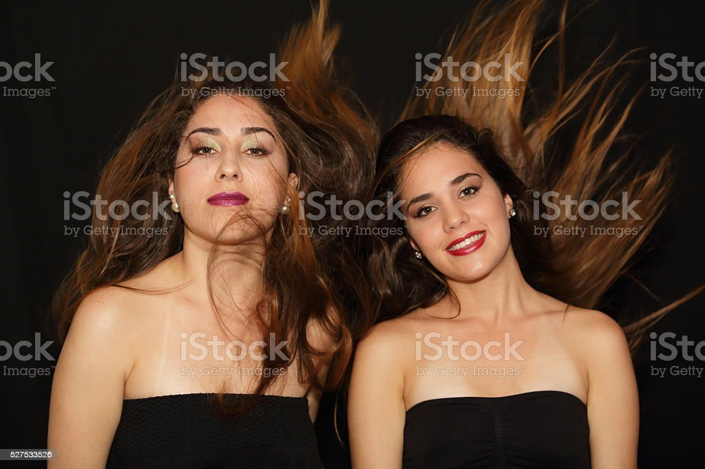 Ladies Portrait with Hair Blowing stock photo