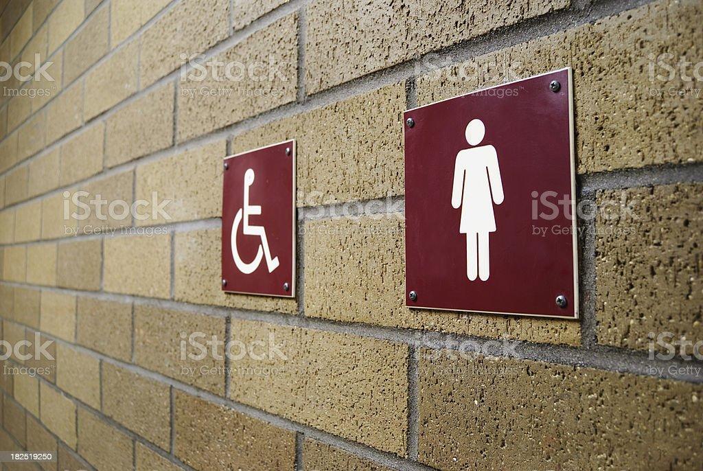 Ladies Restroom Sign stock photo