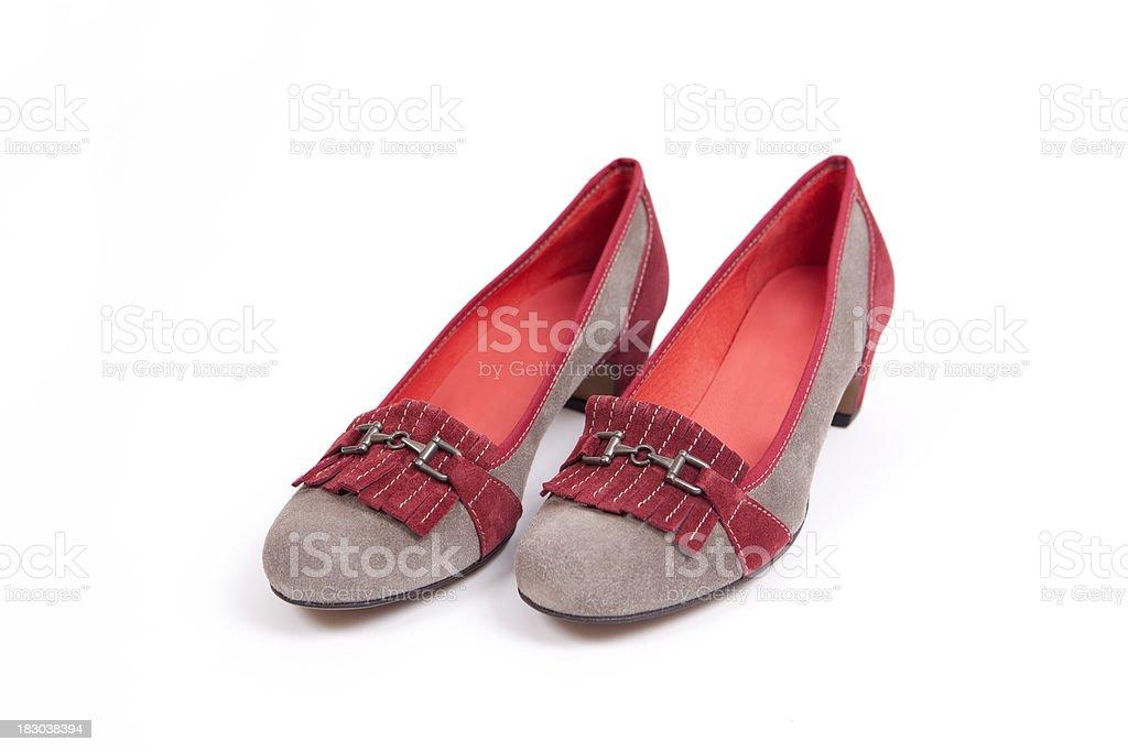 Ladies Suede Shoes (XXXL) stock photo