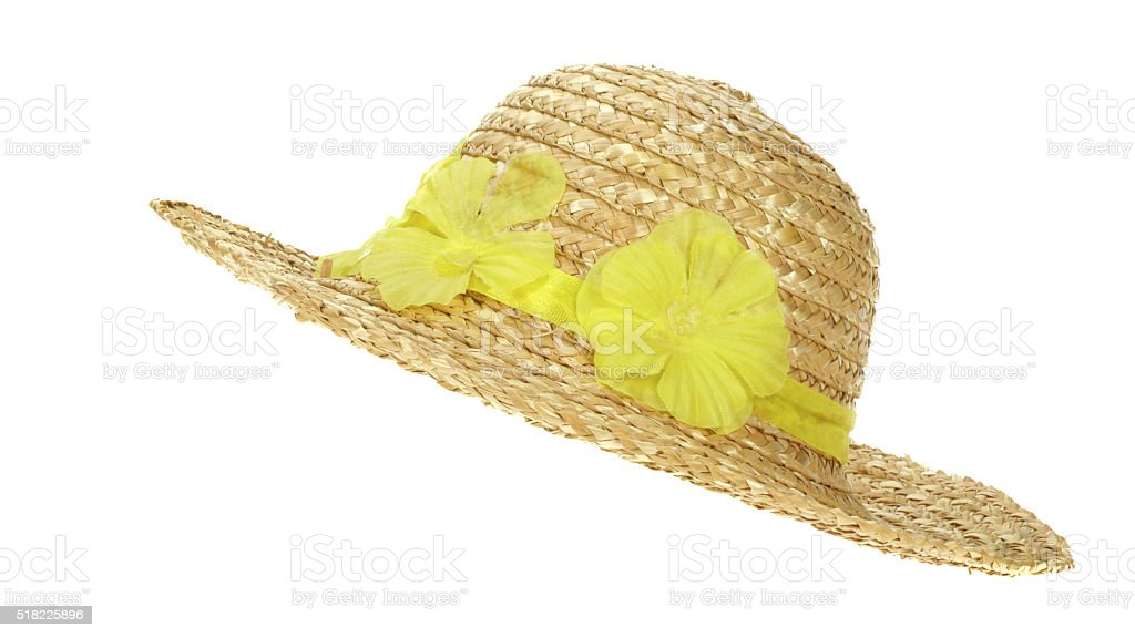 Ladies sun hat stock photo