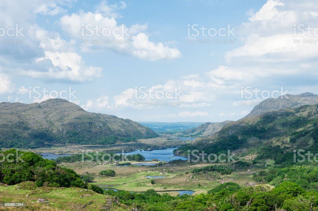 Ladies View on the Ring of Kerry, Ireland stock photo
