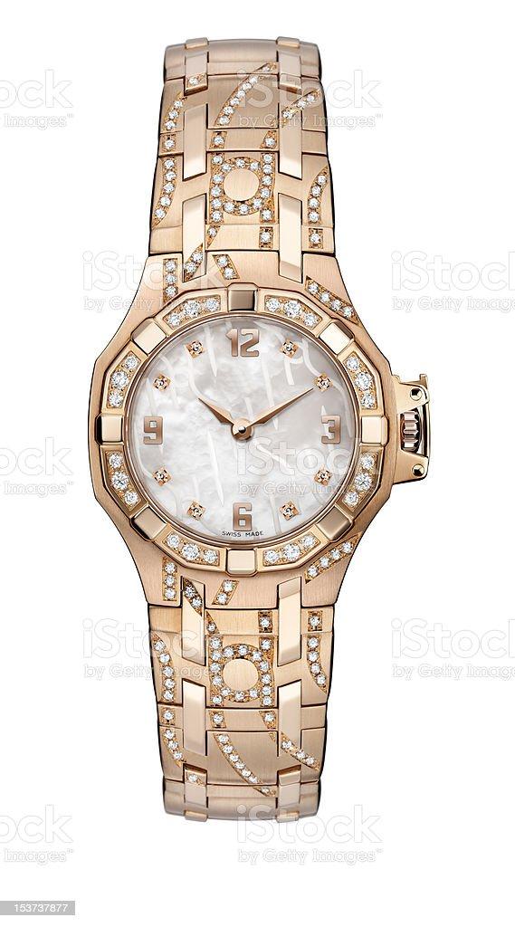 Ladies wrist watch stock photo